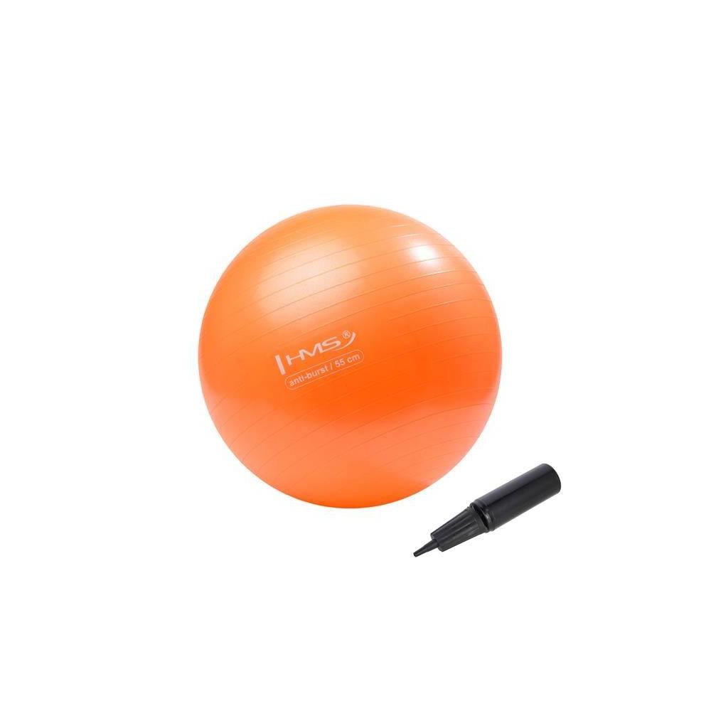 Piłka-gimnastyczna-z-pompką-55cm-pomarańczowa-HMS_1