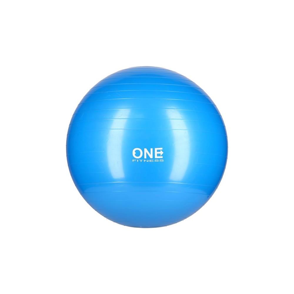 Piłka-gimnastyczna-z-pompką-55cm-niebieska-ONE-FITNESS_1