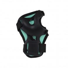 Ochraniacze-komplet-kolano-łokieć-nadgarstek-rozmiar-S-czarno-miętowe-H210-NILS_4