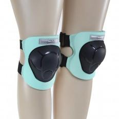 Ochraniacze-komplet-kolano-łokieć-nadgarstek-rozmiar-S-czarno-miętowe-H210-NILS_5