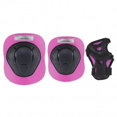 Ochraniacze-komplet-kolano-łokieć-nadgarstek-rozmiar-M-czarno-różowe-H210-NILS_1