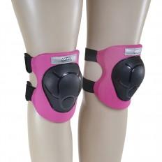 Ochraniacze-komplet-kolano-łokieć-nadgarstek-rozmiar-M-czarno-różowe-H210-NILS_5