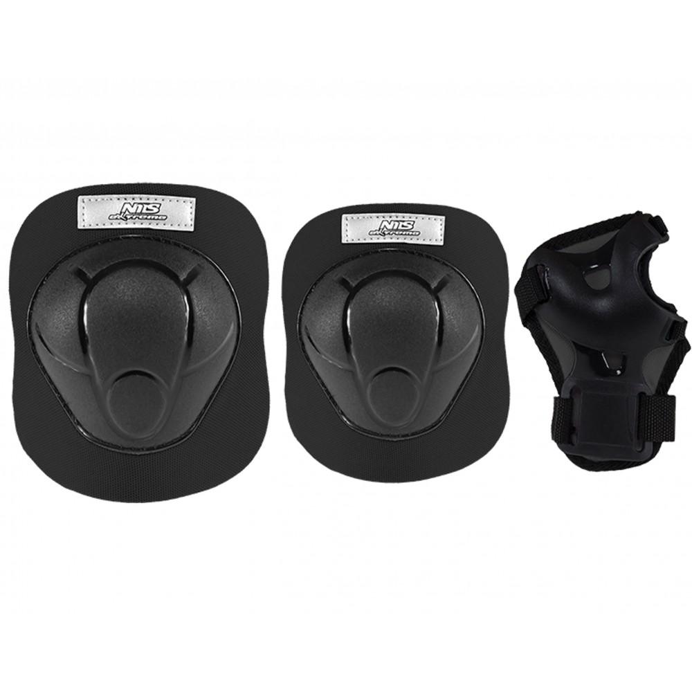 Ochraniacze-komplet-kolano-łokieć-nadgarstek-rozmiar-M-czarne-H210-NILS_1_ miniatura