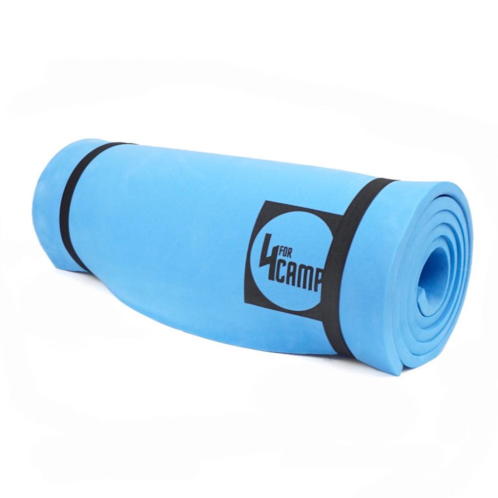 karimata-do-cwiczen-turystyczna-pianka-eva-4camp-niebieska-grubość-1cm-1
