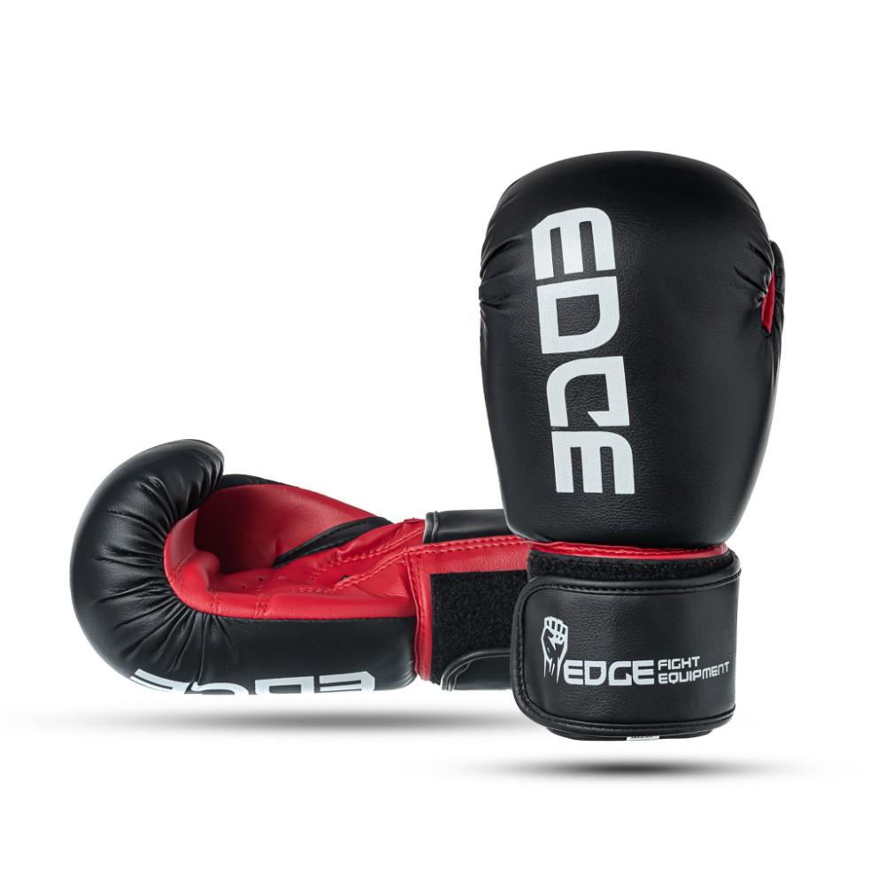 Rękawice-bokserskie-sparingowe-treningowe-8-oz-czarno-czerwone-EDGE_1