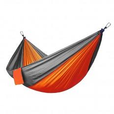 hamak-turystyczny-nylonowy-na-kemping-pomarańczowo-szary-4CAMP-2