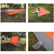 hamak-turystyczny-nylonowy-na-kemping-pomarańczowo-szary-4CAMP-6