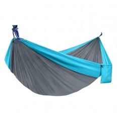 hamak-turystyczny-nylonowy-na-kemping-szaro-niebieski-4CAMP-2